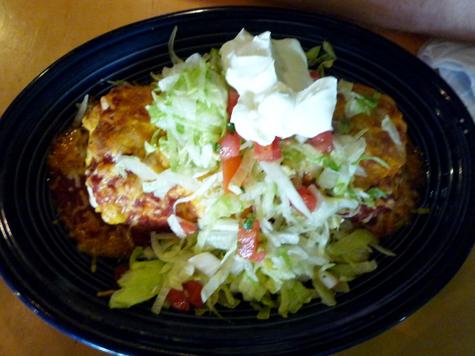 Smothered Tofu Burrito