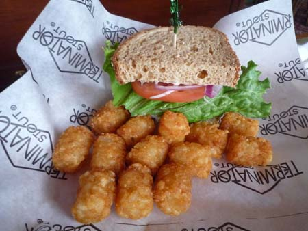 1/2 Turkey Sandwich with tots
