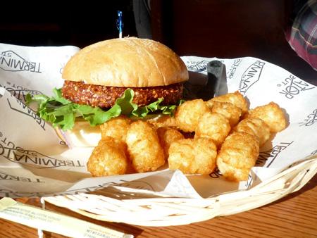 Beer garden burger